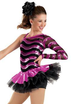One Sleeve Wave Sequin Dress -Weissman Costumes