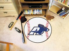 University of Akron Zips Baseball Floor Rug Mat