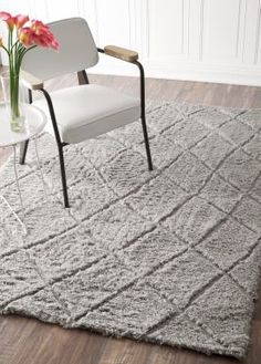 $5 Off when you share! Moroccan Shag VS146 Grey Rug | Contemporary Rugs #RugsUSA