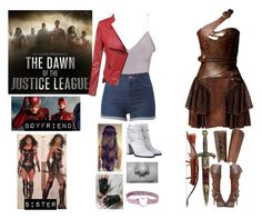 """""""Me in Justice League"""" by moon-and-back-babe123 ❤ liked on Polyvore featuring Loewe, KING and Valentino"""