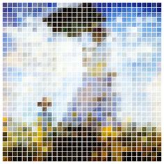 pixel art Monet