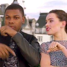 Daisy Ridley raps about Star Wars with John Boyega http://shot.ht/1WaCoWZ @EW