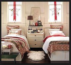 Bedroom Decor Shared Kids Bedrooms Christmas Bedrooms Window Christmas