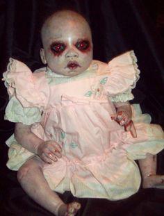 Reborn Creepy Evil Scary Zombie Baby Doll Odd Steam Punk OOAK | eBay