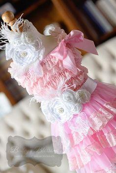 Pink & White Lace Dress Gift Set