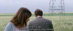 Pierrot le fou, 1965' French film by Jean-Luc Godard, starring Anna Karina and Jean-Paul Belmondo. #travel