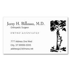 Orthopaedic Crooked Tree Business Card Template  Medical Health