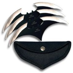 Batman Batwing 3 Knife Batarang Set with Pouch  HAVE THESE!!!