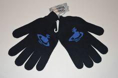 Vivienne Westwood Orb wool blend black gloves size M