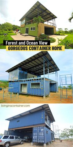 Shipping Container Home Designs, Shipping Container House Plans, Prefab Shipping Container Homes, Shipping Container Buildings, Shipping Containers, Building A Container Home, Container Houses, Container House Design, Shed To Tiny House
