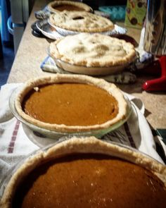 Thanksgiving preparations  Happy Canadian Thanksgiving everyone!! Thankful for great family friends and these delicious pies   #thanksgiving #thankful #pie #pumpkins #apple #cooking #food #canada