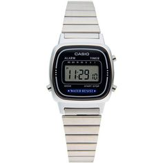 Casio Wrist Watch (855 MXN) ❤ liked on Polyvore featuring jewelry, watches, bracelets, blue, stainless steel watches, stainless steel jewellery, blue jewelry, casio watches and casio