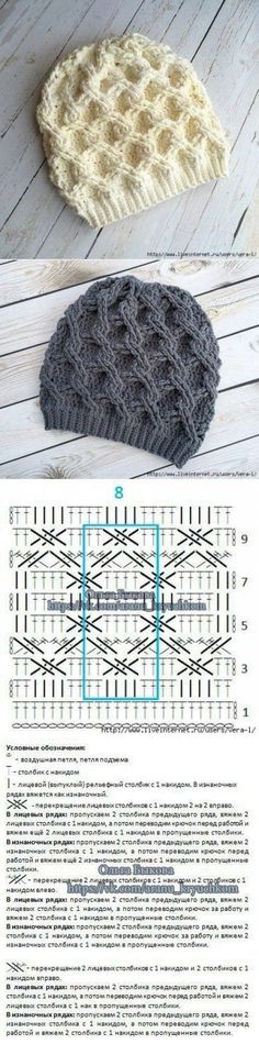 47 ideas for crochet hat diagram knitting Crochet Baby Hat Patterns, Crochet Motif, Crochet Stitches, Knitting Patterns, Crochet Cable, Crochet Beanie, Knitted Hats, Crochet Hats, Knitting Projects