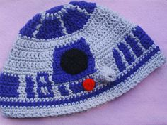 Star Wars Inspired R2D2 Hat S /M Adult or Teen by FroggyPrincess, $20.00