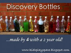 Kids' Play Space - a mother's journey: Discovery bottles - made by & with a 2 year old!