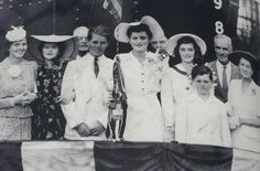 June 29, 1941: The last known formal photo of Rosemary (far left) before her lobotomy. Bobby, Pat, Jean, Teddy, and Rose are all dressed in white for the launching of the USS President Polk