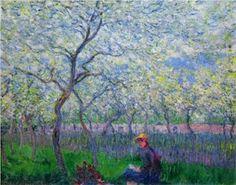 Claude Monet - 1886  un huerto en primavera