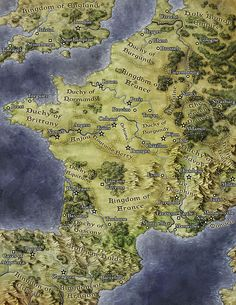 An alternate Europe, illustrated for Interaction Point Games. #fantasticmaps #fantasy #map