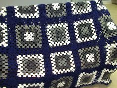 """Afghan I made for my niece.  I called it """"Work of Love."""""""