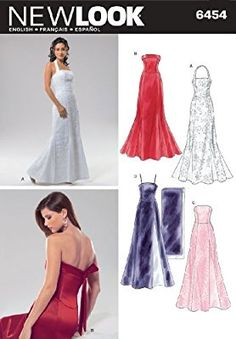 eeea7ed076 New Look Sewing Pattern 6454 Misses Special Occasion Dresses