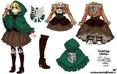 Attack-on-Titan-Shingeki-no-Kyojin-Eren-Levi-Armin-Lolita-Cloak-Skirt-Cosplay