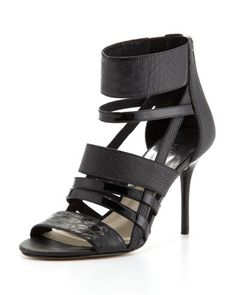 Shiloh Mixed-Media Strappy Sandal by MICHAEL Michael Kors at Neiman Marcus. $165.00 for mommy