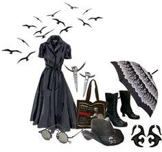 """Elder Gothette in Spring"" by ravenbasslady on Polyvore"