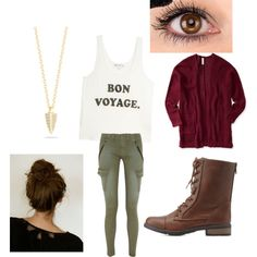 airplane outfit by annikasallie on Polyvore featuring polyvore fashion style Wildfox Aéropostale rag & bone/JEAN Charlotte Russe Elizabeth and James