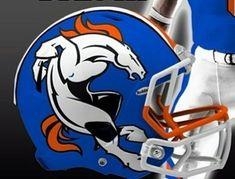 Denver Broncos Tattoo, Denver Broncos Helmet, Denver Broncos Super Bowl, Broncos Logo, Broncos Fans, Nfl Logo, Team Logo, Football Helmet Design, Nfl Football Helmets