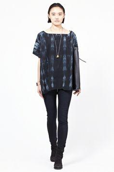 UZI Tie Dye Kimono Top (Black)