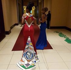 African Prom Dresses, Latest African Fashion Dresses, African Print Fashion, African Dress, African Prints, Zulu Traditional Wedding Dresses, South African Traditional Dresses, African Wedding Attire, Making Ideas