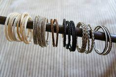 horse hair key chains | hand braided horse hair bracelet $70 mexchic.etsy