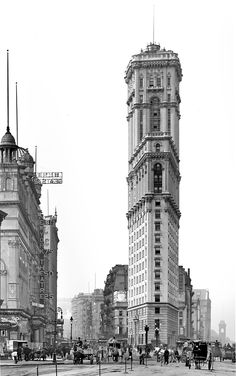 One Times Square. Nueva York, 1905. Shorpy
