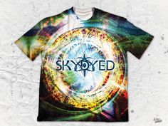 "Skydyed ""Mentality"" Men's Crew Neck T-Shirt by Pulse Of Prophets Part of the Skydyed x Pulse Of Prophets collaboration series This piece is printed exclusively Various Artists, Vibrant Colors, Finding Yourself, Crew Neck, Pop, Prints, Artwork, Mens Tops, Collar Pattern"