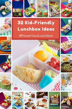 32 Kid-Friendly Lunchbox Ideas - healthy, well balanced ideas to pack in your kids lunchbox, from fun bento boxes to simple-to-assemble ideas! #PowerYourLunchbox @produceforkids