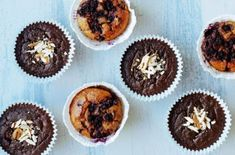 chokladmuffins Fika, Gluten Free Baking, Hot Chocolate, Tart, Healthy Recipes, Healthy Food, Food And Drink, Breakfast, Desserts