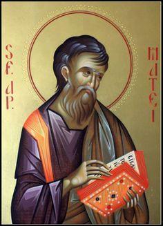 St Mathew, Byzantine Icons, Orthodox Christianity, Religious Icons, Orthodox Icons, Christian Art, Superhero, Illustration, Fictional Characters