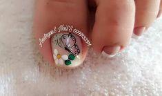 Toe Nail Art, Toe Nails, Pedicure Nails, Manicure, Magic Nails, Nail Art Designs, Gemstone Rings, Veronica, Nail Bling