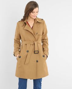 Trench-coat femme caramel