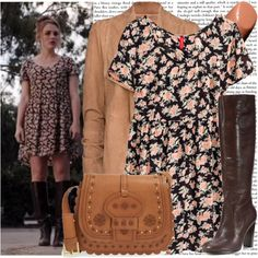 A fashion look from July 2015 featuring H&M dresses, MANGO jackets and Nanette Lepore boots. Browse and shop related looks.