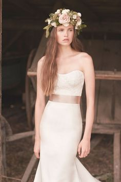 Style 2056 crop Mikaella wedding dress Spring Collection_0