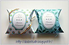 le gabarit pour créer ces jolies boîtes... accompagné du tutoriel, des étiquettes et même d'un papier à chevrons tout mignon...
