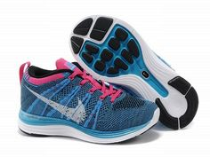 Nike Flyknit, Nike Flyknit women, Nike Flyknit Lunar 1 Womens Running Trainers Blue Pink