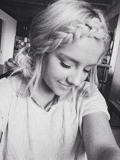 Loose braided bangs