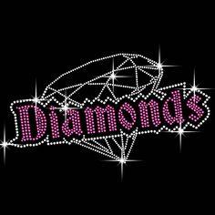 Diamonds Diamante Transfer Iron On Hotfix Gem Crystal T-Shirt Motif   eBay