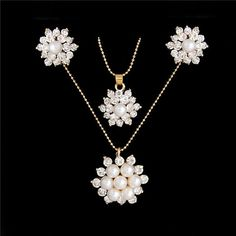ZOSHI Fashion Gold-color Jewelry Set Chocker Necklace   Earring For Wedding  Accessories Rhinestone Crystal Jewelry Set 76cf7a68aabd