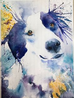 Cutstom Pet Portrait/ Dog cat bird animal painting from