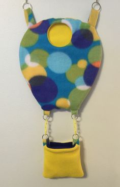 A personal favorite from my Etsy shop https://www.etsy.com/listing/225539324/hot-air-balloon-cage-pouch