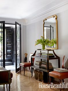 An entry in an Upper East Side town house by designer Michael S. Smith.