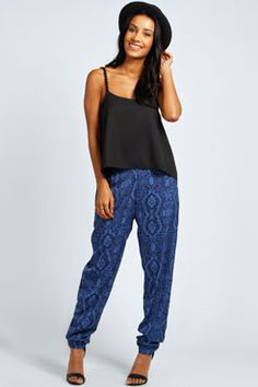 Lois Paisley Print Relaxed Trousers